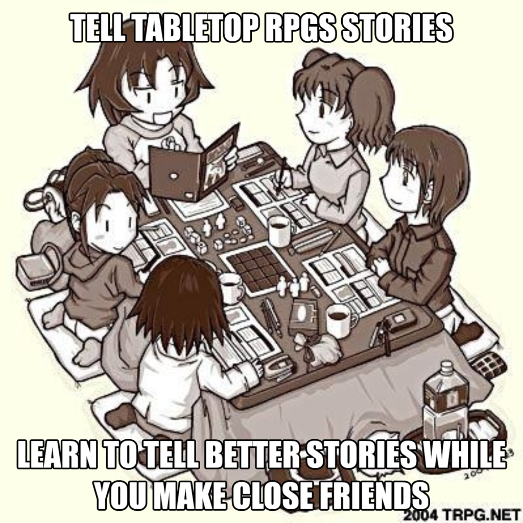 Storytelling in RPGs lets you test your world while making close friends