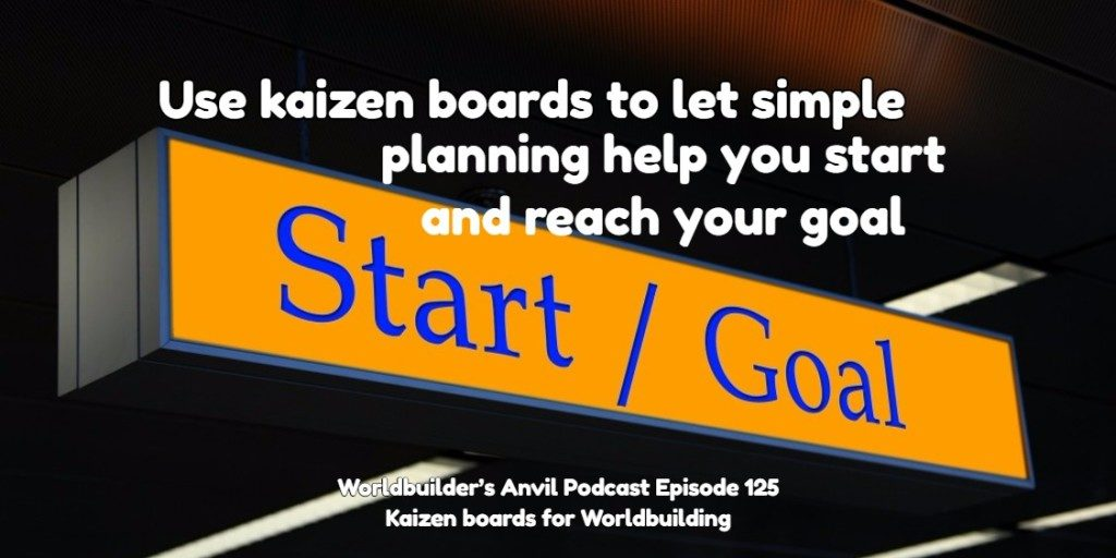 Use kaizen boards to let simple planning help you start and reach your goal